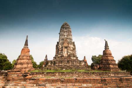 temple of Wat Mararat in Ayutthaya near Bangkok, Thailand photo