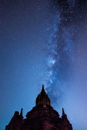 fascinate: Milky way in Bagan, Myanmar Stock Photo