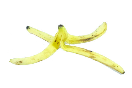 banana skin: banana skin on a white background close-up