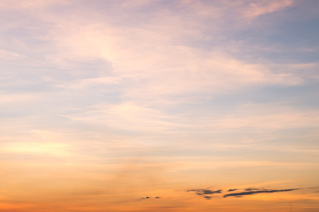 sky scape: Sunset blue sky and clouds backgrounds