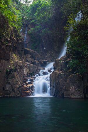 namtok: waterfall in nature on Namtok Phlio national park, Chanthaburi at Thailand.