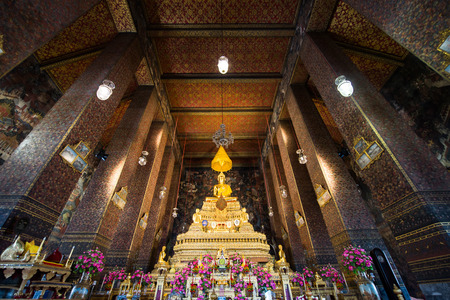 Buddha inside Wat Pho Temple bangkok Thailand.