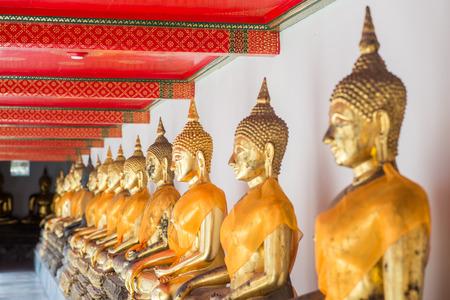 trone: Buddha inside Wat Pho Temple bangkok Thailand.