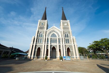 immaculate conception: Old cathedral of the Immaculate Conception in Chantaburi, Thailand Stock Photo