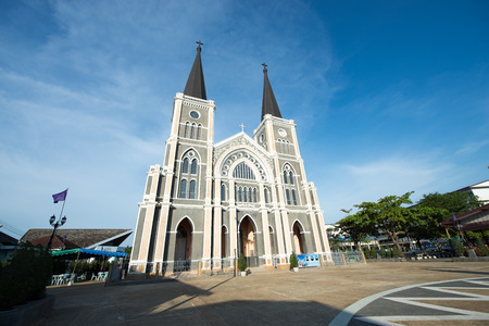 big bible: Old cathedral of the Immaculate Conception in Chantaburi, Thailand Stock Photo