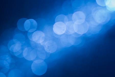 blue christmas background: Abstract bokeh background Stock Photo