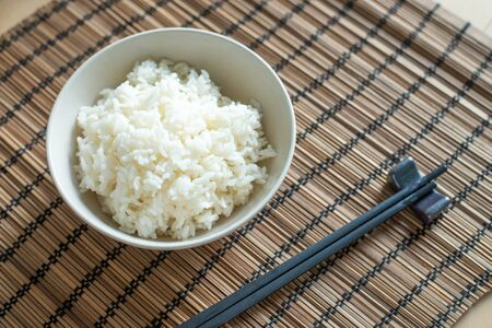 Freshly cook rice Standard-Bild