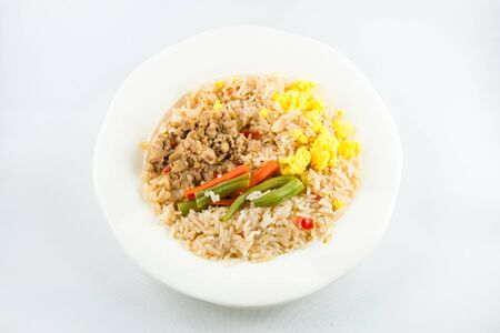 chilli paste with pork and fried rice