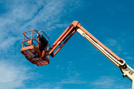 lifter: work lifter against sky Stock Photo