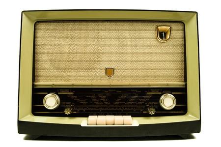 50s: vintage radio Stock Photo