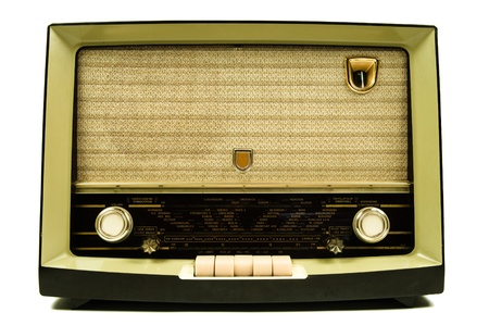 the fifties: vintage radio Stock Photo