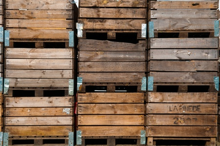 wooden crate background used for potato storage photo