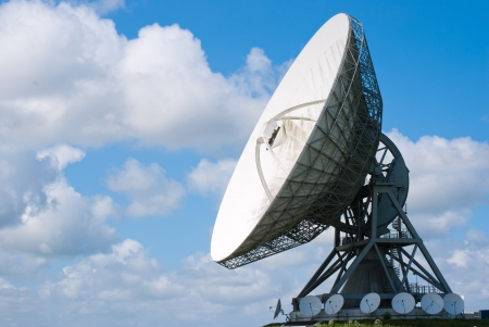 Picture  of a large satellite dish for transatlantic communication