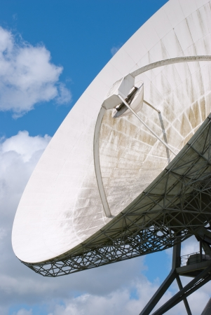 Picture  of a large satellite dish for transatlantic communication photo