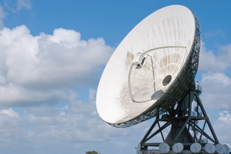 dirty dishes: Picture  of a large satellite dish for transatlantic communication