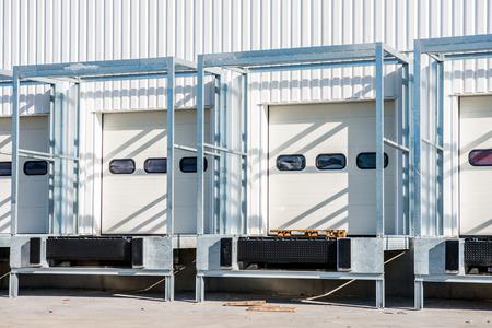 loading dock: white loading dock under construction