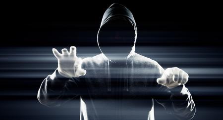 cybercrime: Cybercrime futuristic technology concept Stock Photo