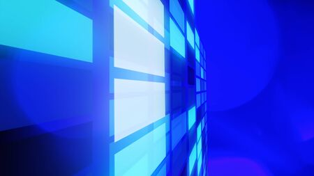 blue lights: Abstract blue lights futuristic background