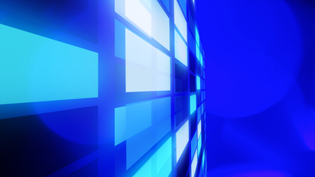 title: Blue presentation title page background Stock Photo