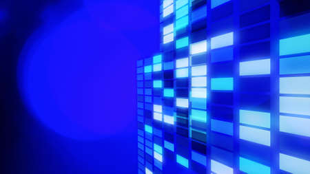 title: Blue abstract lights title background