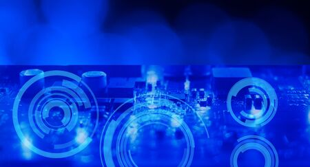 electronic background: Dark blue technology computer electronic background