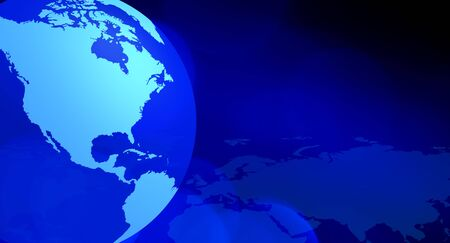 North America blue technology background