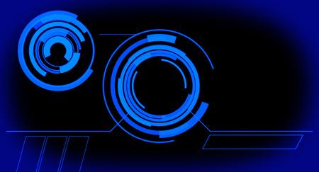 未来的なデザイン ブルーの背景 写真素材