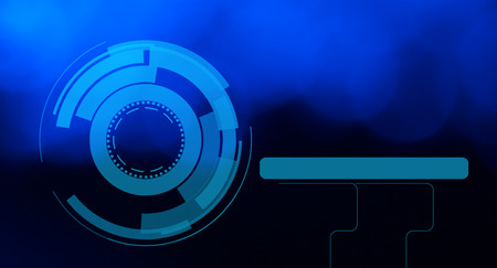 space robot: Visual hud graphics abstract blue background
