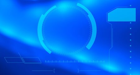 holographic: Futuristico tocco schermo virtuale hud olografico