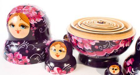 matreshka: Russian traditional Matryoshka hand painted nesting dolls