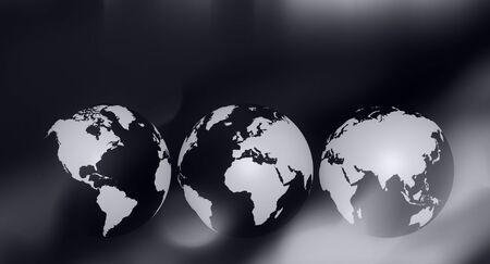 黒と白のビジネス世界概念の背景
