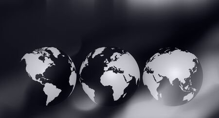 Black and white business world concept background