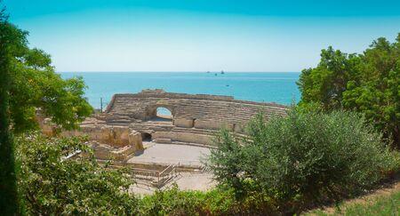 roman amphitheater: Old Roman Amphitheater ruins, Tarragona, Costa Daurada