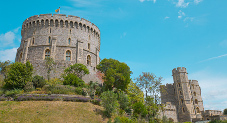 windsor: Stone ancient Windsor Castle. Famous touristic attraction Editorial