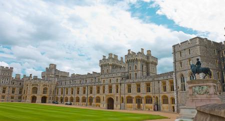 高貴な宮殿、ウィンザー城英国 報道画像