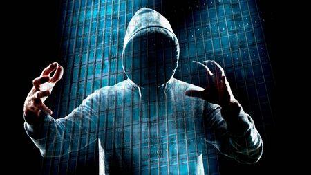 Virtual reality hacker attack Archivio Fotografico