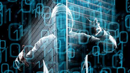 Dangerous hacker hacking network