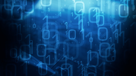 Technology blue abstract binary code background