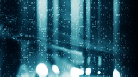Futuristic lights binary digital background Stok Fotoğraf