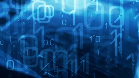 Zero one binary code abstract background
