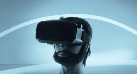 virtual technology: New technology virtual reality headset Stock Photo