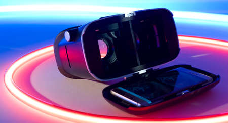 mobile headset: Virtual reality smart-phone headset concept