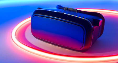 VR virtual reality goggles cellphone headset Stock Photo