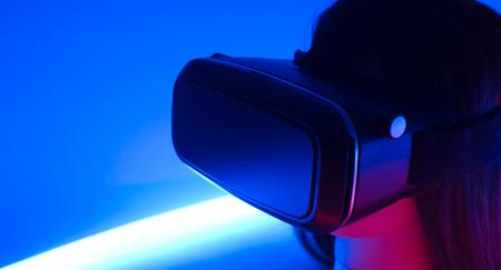 VR virtual reality smart phone modern glasses Archivio Fotografico
