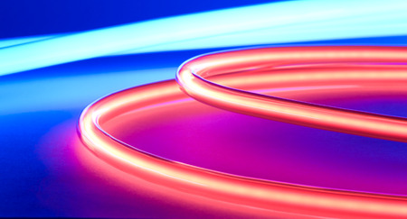 neon lights: Abstract blue red neon lights background Stock Photo