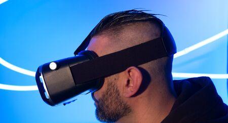 Modern virtual reality headset new wearable electronic gadget