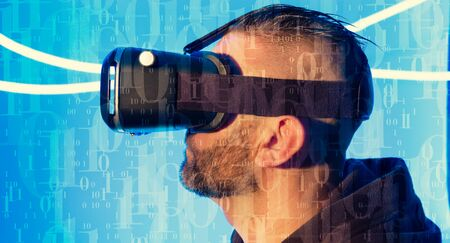 Wearable new technology gadget virtual reality goggles