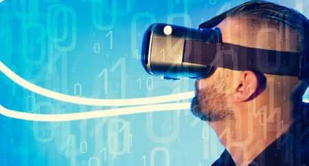 virtual technology: New technology wearable gadget virtual reality glasses