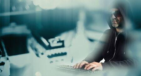 cybercrime: Hacker cybercrime futuristic conception Stock Photo
