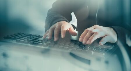 デジタル泥棒のサイバー攻撃の概念